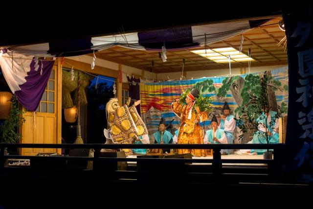 山中明神太鼓で神楽の伝承を次世代へ
