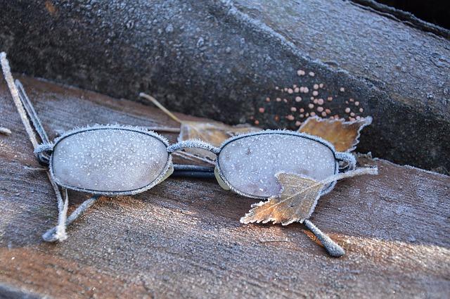 メガネ塚に使わなくなったメガネを供養